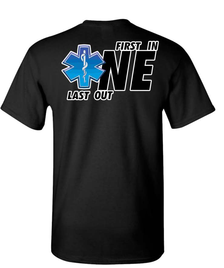 First One In Last One Out EMS Short Sleeve T-Shirt - Black