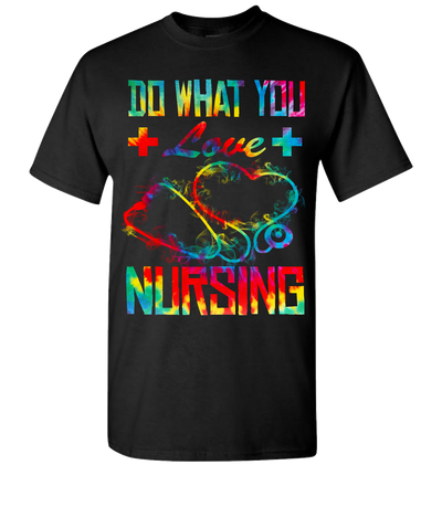 Nursing Do What You Love Short Sleeve T-Shirt - Black