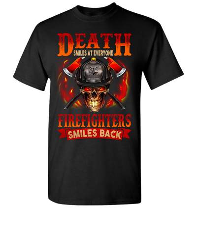 Death Smiles At Everyone Short Sleeve T-Shirt - Black