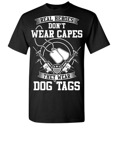 Real Heroes Dont Wear Capes Short Sleeve T-Shirt - Black