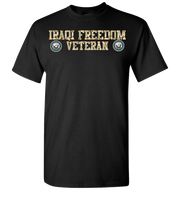 Iraqi Freedom Navy Short Sleeve T-Shirt - Black