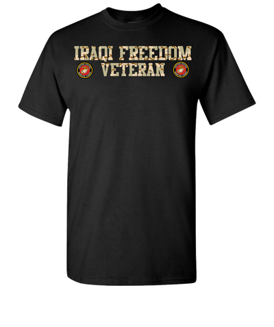 Iraqi Freedom USMC 2 Short Sleeve T-Shirt - Black