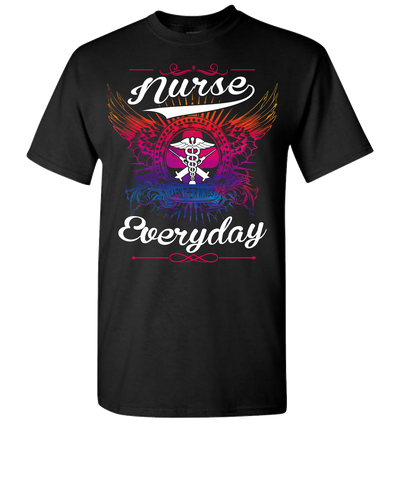 Nurse Earn There Wings Short Sleeve T-Shirt - Black