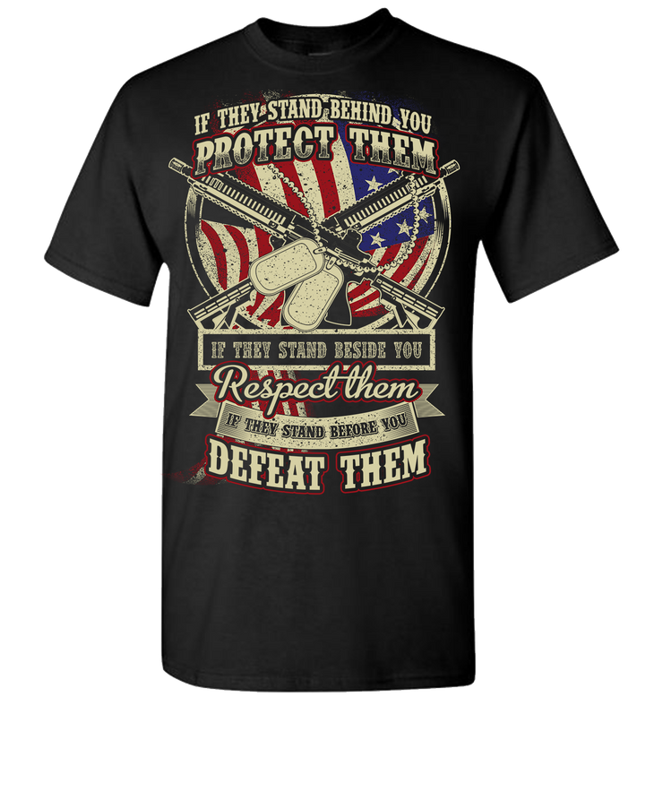 Protect Respect Defeat Short Sleeve T-Shirt - Black