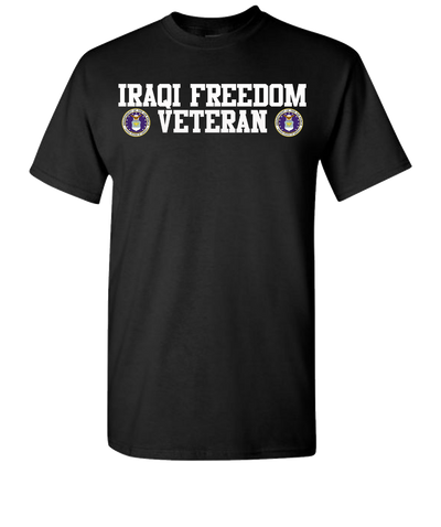 Iraqi Freedom Airforce 2 White Short Sleeve T-Shirt - Black