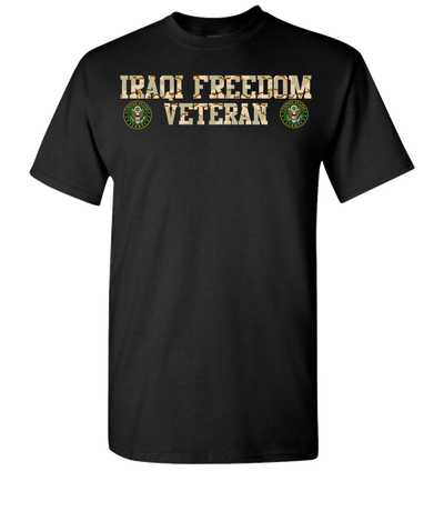 Iraqi Freedom Army Short Sleeve T-Shirt - Black