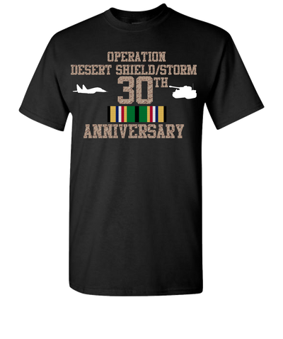 Operation Desert Storm/Shield 30 Anniversary T-Shirt - Black