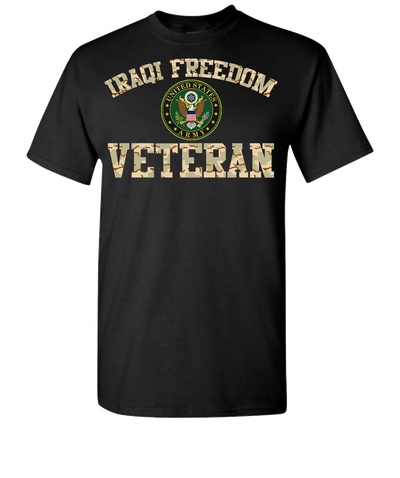 Iraqi Freedom Army 2 Short Sleeve T-Shirt - Black
