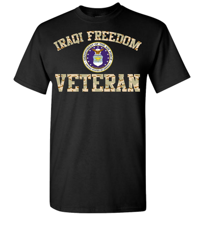 Iraqi Freedom Airforce  2 Short Sleeve T-Shirt - Black