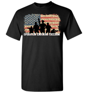 Operation Enduring Freedom Tatared flag Short Sleeve T-Shirt - Black