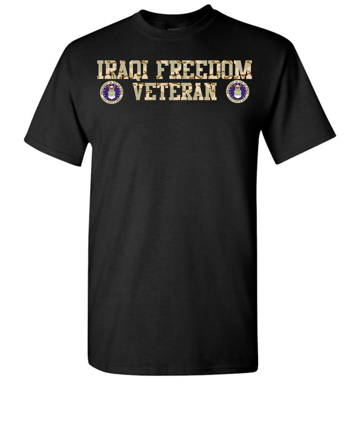 Iraqi Freedom Airforce Short Sleeve T-Shirt - Black