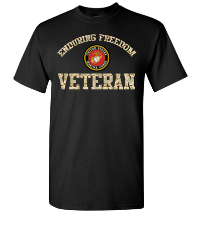 Enduring Freedom USMC Short Sleeve T-Shirt - Black