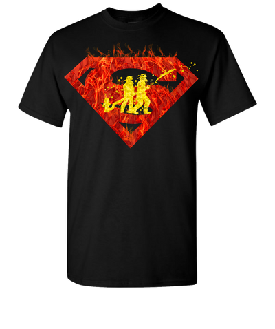 Super Firefighter 2 Short Sleeve T-Shirt - Black