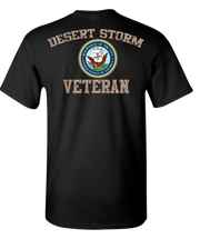 Desert Storm Vet Navy 2 Short Sleeve T-Shirt - Black