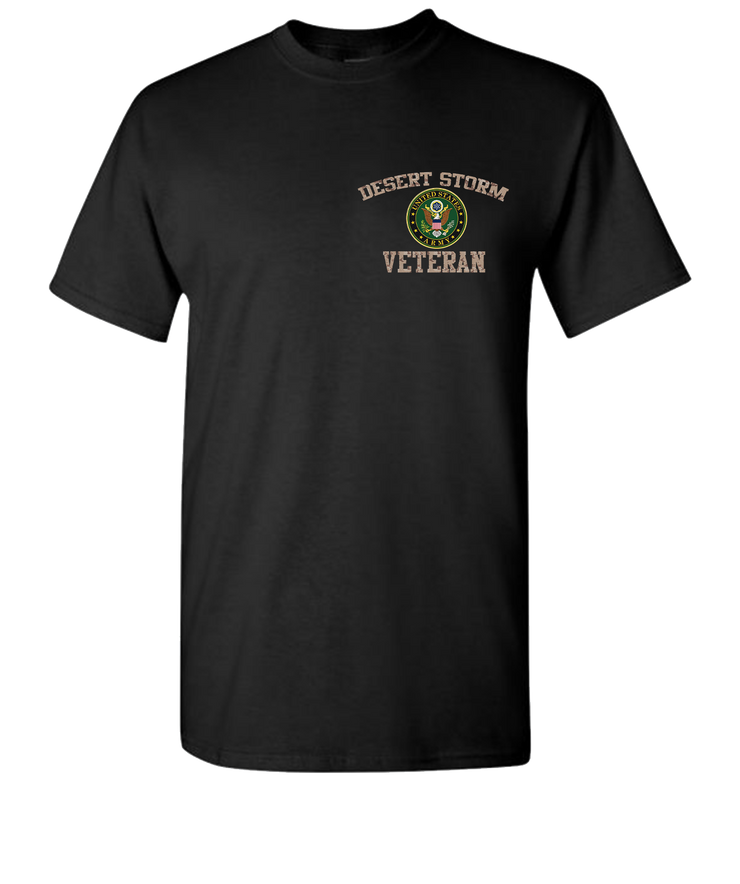 Desert Storm Army Short Sleeve Breast T-Shirt - Black