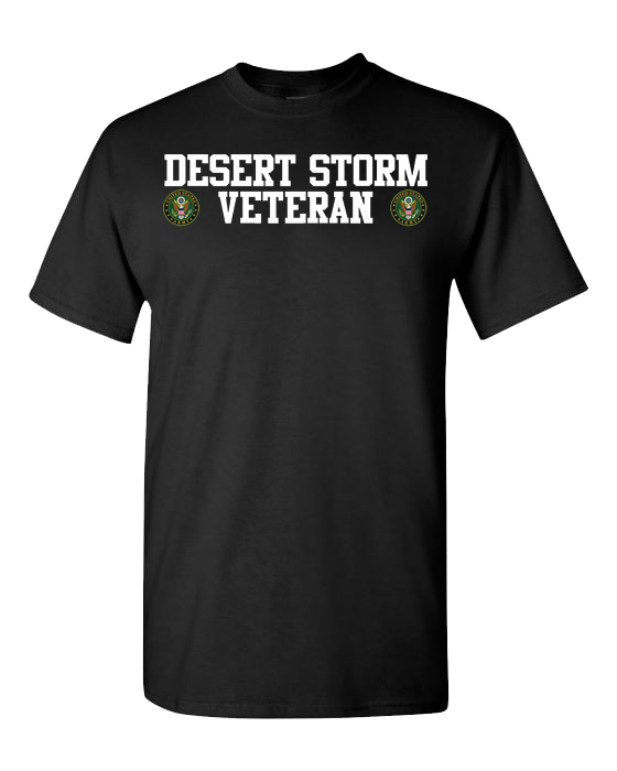 Desert Storm Veteran Army 2 White Short Sleeve T-Shirt