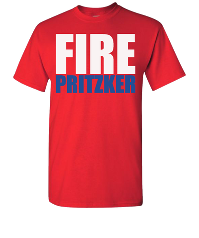 Fire Pritzker-Short-Sleeve-t-Shirt-Red