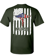 Nurse Flag Short Sleeve T-Shirt - Green