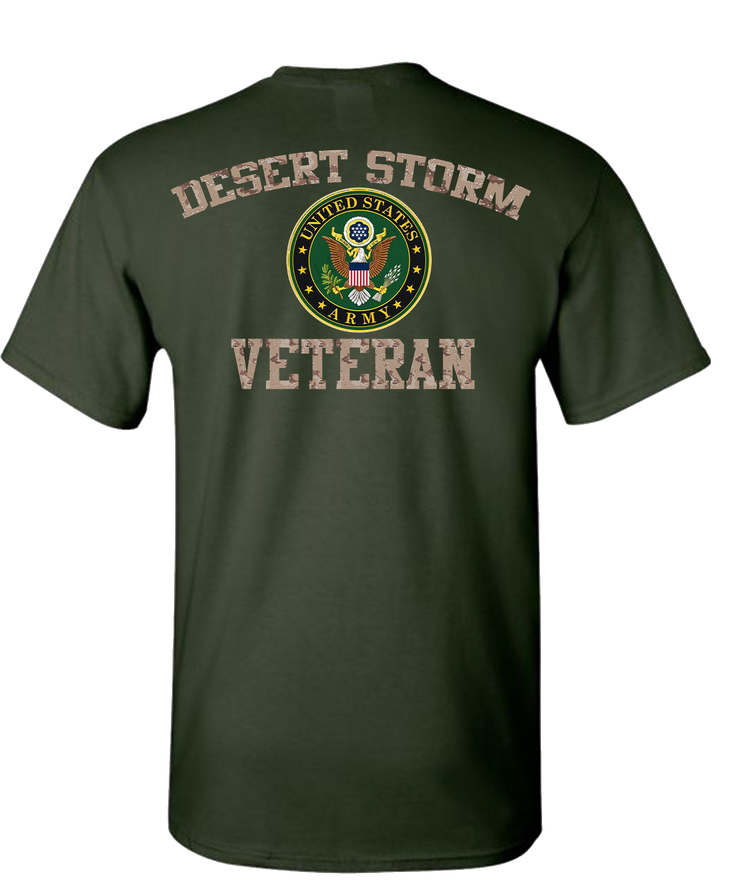 Desert Storm Army Short Sleeve Breast T-Shirt - Green