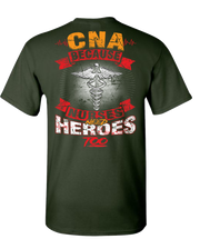 CNA Nurses Need Heroes Too Short Sleeve T-Shirt - Green