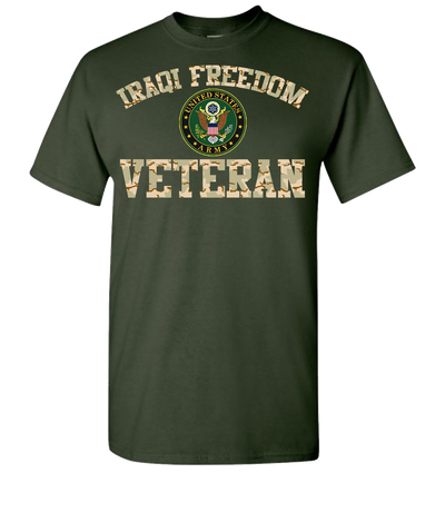 Iraqi Freedom Army 2 Short Sleeve T-Shirt - Green
