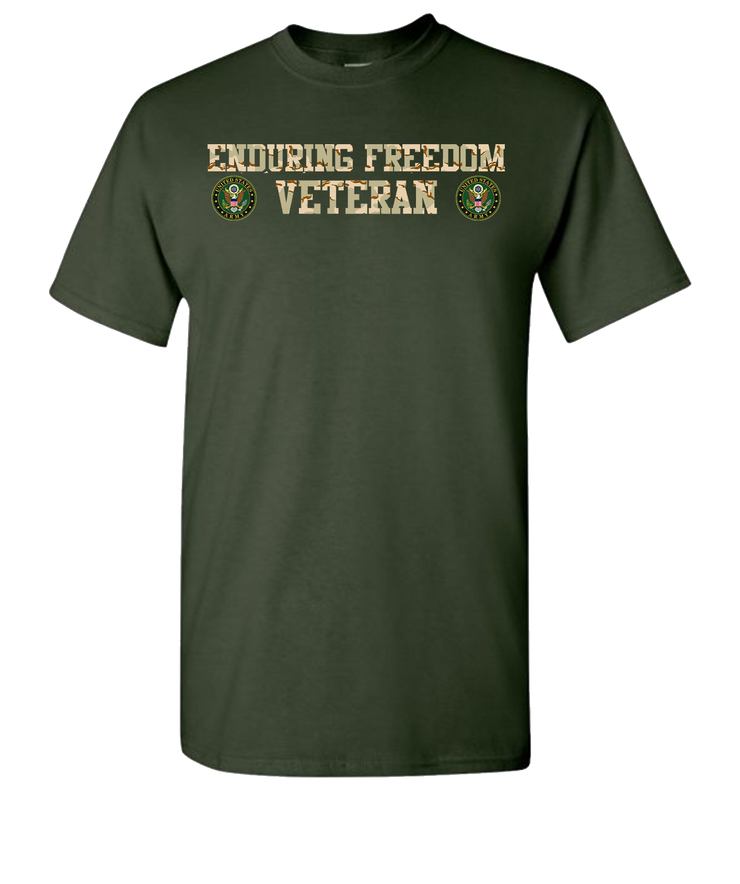 Enduring Freedom Army 2 Camo Short Sleeve T-Shirt - Green