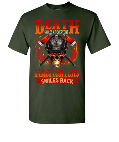 Death Smiles At Everyone Short Sleeve T-Shirt - Green