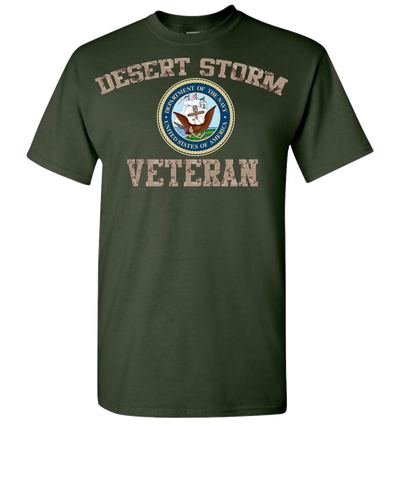 Desert Storm Vet Navy 2 Short Sleeve T-Shirt - Green