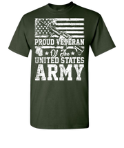 Proud Veteran Short Sleeve T-Shirt - Forest Green