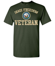Iraqi Freedom Navy 2 Short Sleeve T-Shirt - Green