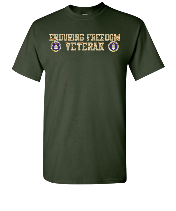 Enduring Freedom Airforce 2 Camo T-Shirt - Green