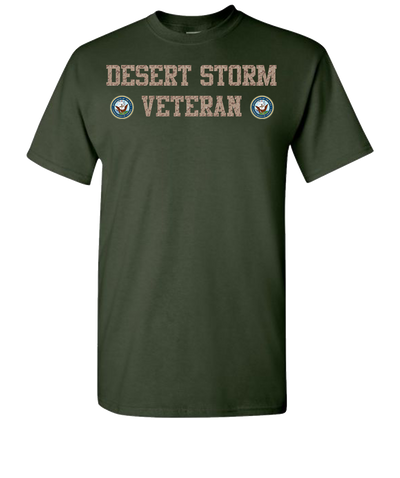 Desert Storm Vet Navy Short Sleeve T-Shirt - Green
