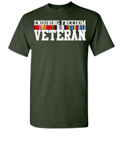 Endering Freedom Veteran With Ribbons White Short Sleve T-Shirt - Green