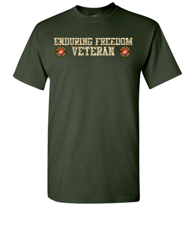 Enduring Freedom USMC 2 Camo Short Sleeve T-Shirt - Green