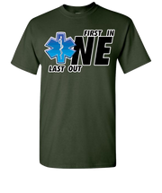 First One In Last One Out EMS Short Sleeve T-Shirt - Green