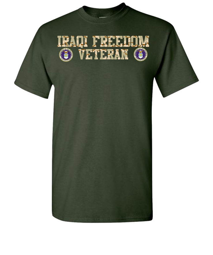 Iraqi Freedom Airforce Short Sleeve T-Shirt - Green