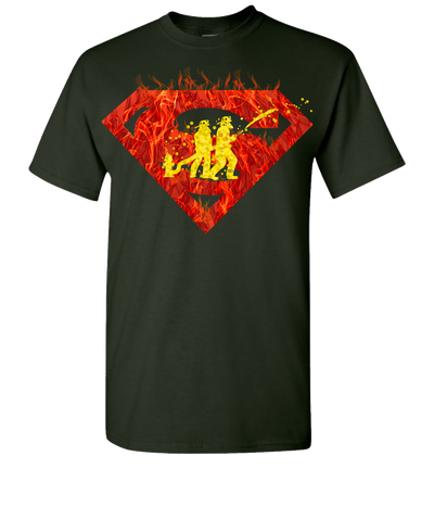 Super Firefighter 2 Short Sleeve T-Shirt - Green