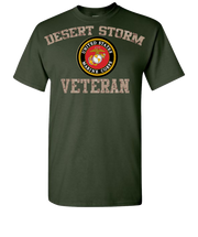 Desert Storm USMC Short Sleeve T-Shirt - Green