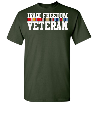 Iraqi Freedom Vet Short Sleeve T-Shirt - Green
