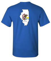 Illinois-Flag-Short-Sleeve-T-Shirt-Royal