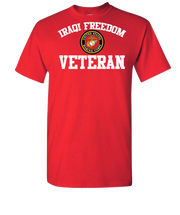 Iraqi Freedom White Lettering USMC-Red