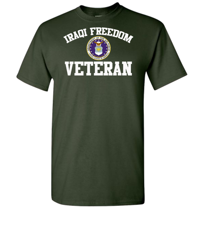 Iraqi Freedom White Lettering Air Force-Green