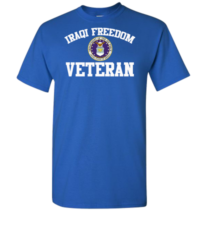Iraqi Freedom White Lettering Air Force-Royal