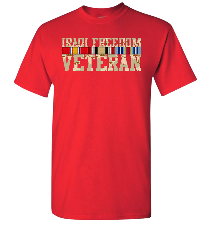 Iraqi Freedom Camo Ribbons-Red