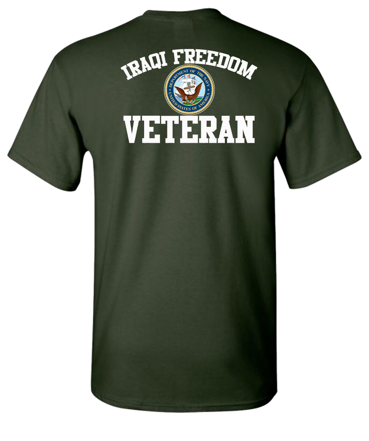 Iraqi Freedom White Lettering Navy-Green