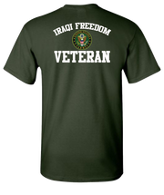 Iraqi Freedom White Lettering Army-Green