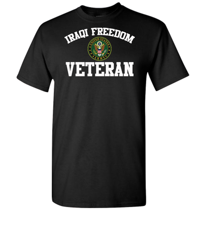 Iraqi Freedom White Lettering Army-Black