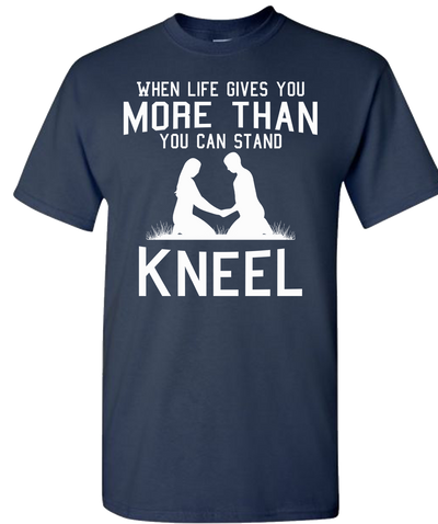 Kneel Short Sleeve T-Shirt - Navy
