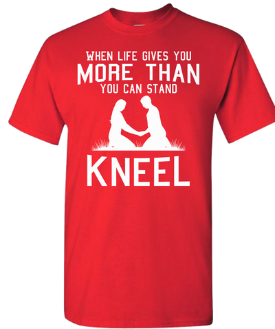 Kneel Short Sleeve T-Shirt - Red