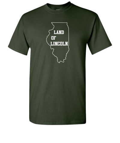 Land-Of-Lincoln-Short-Sleeve-T-Shirt-Green